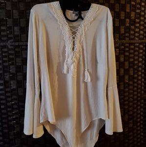 Ivory Lace Corset Bodysuit